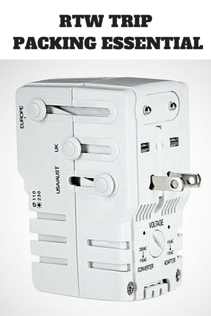 Universal Travel Plug Adapter | www.rtwgirl.com