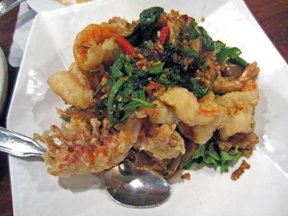 Drunken Noodles With Prawn Lotus of Siam Thai Resaturant, Las Vegas