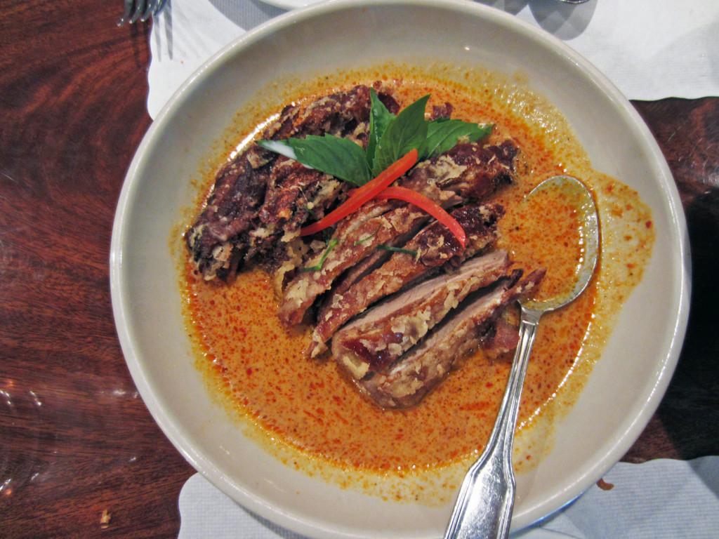 Roast Duck Massaman Curry Lotus of Siam Thai Resaturant, Las Vegas