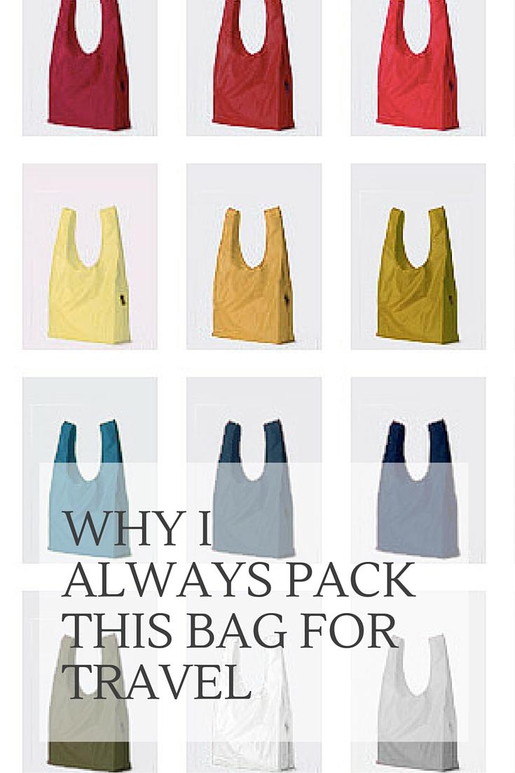 Why I Always Pack A Baggu Bag When I Travel | www.rtwgirl.com