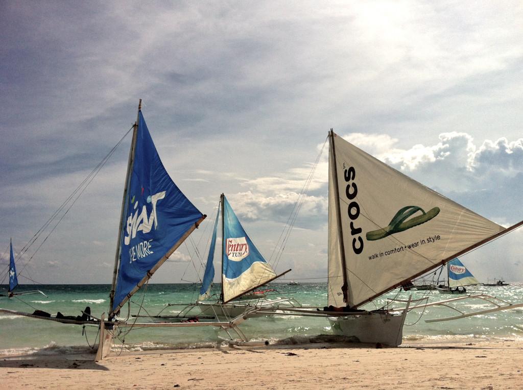 Paraw boats BORACAY
