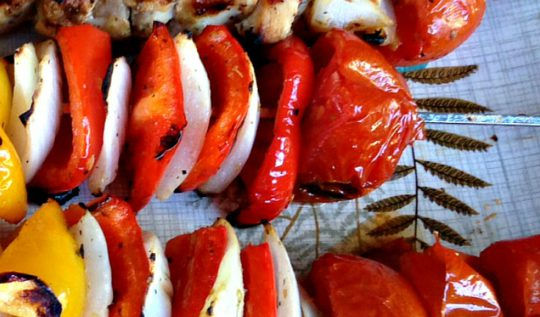 Chicken kebab dinner | www.rtwgirl.com