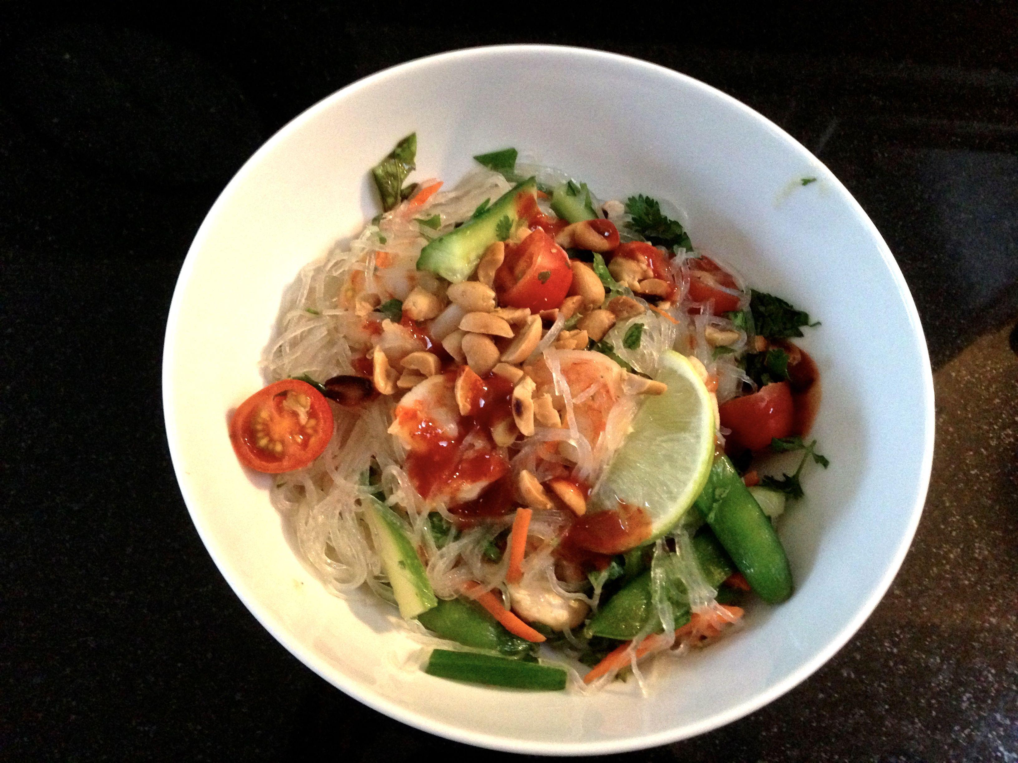 noodle bowl thai chicken and shrimp noodle thai glass noodle salad ...