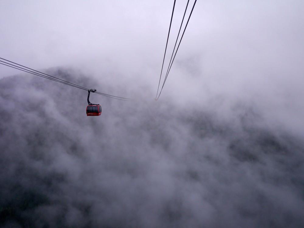 Peak2Peak Foggy Whistler via http://rtwgirl.com