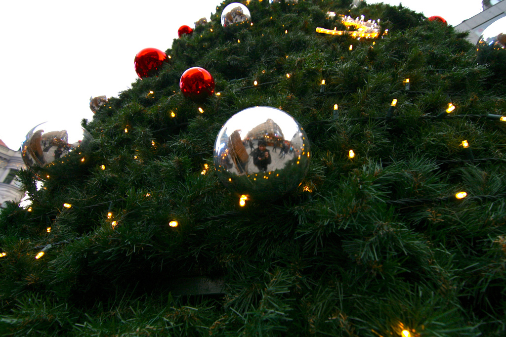 Christmas market selfie in Prague