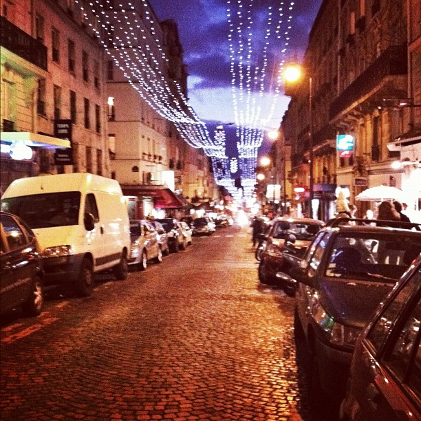 At Night In Montmartre Paris Inspiration