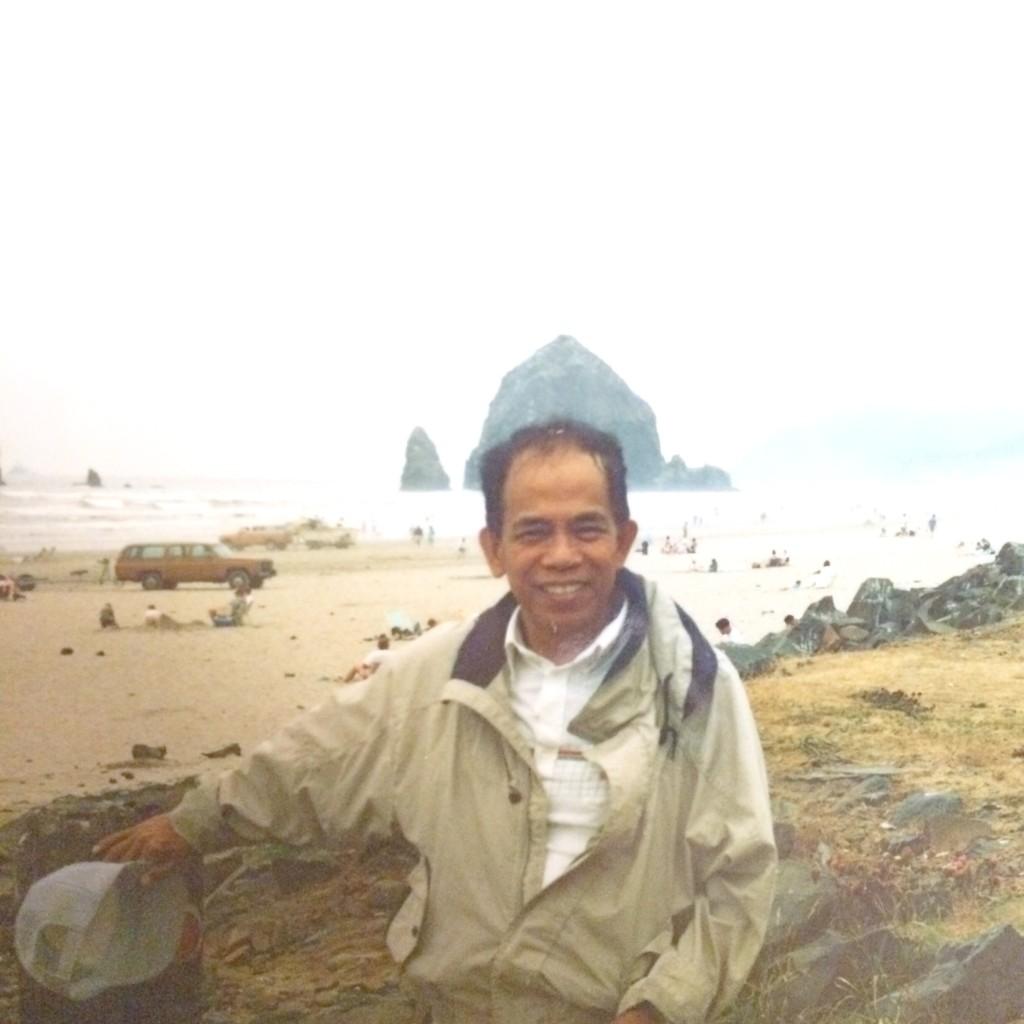Dad at Canon Beach Oregon