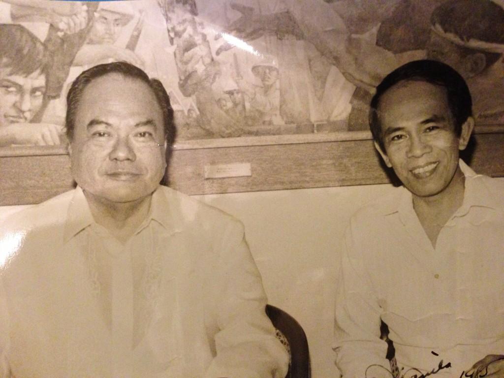 Dad with Blas Ople
