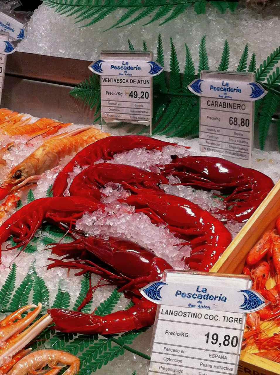 Seafood at Mercado de San Miguel in Madrid Spain | www.rtwgirl.com