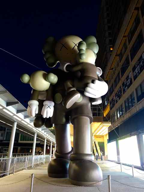 Kaws Clean State Sculpture outside of Harbour City | www.rtwgirl.com