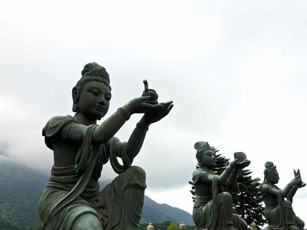 Devas at Tian Tan Buddha Hong Kong RTWgirl.com