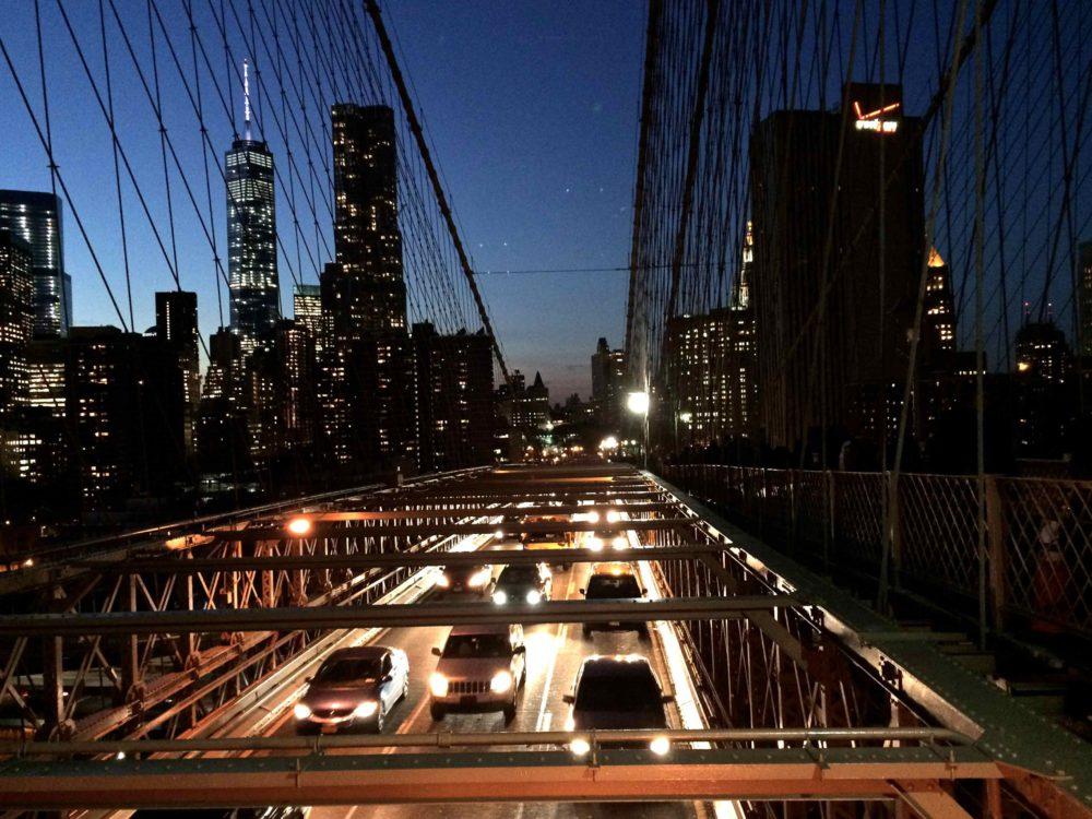 Brooklyn Bridge at night - A Big Apple Hello | www.rtwgirl.com