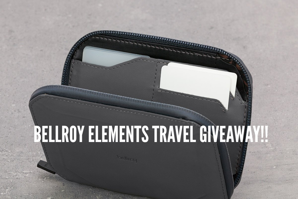 Giveaway!! Win A Bellroy Elements Travel Wallet!