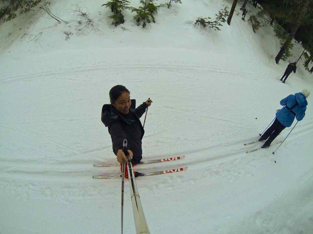Cross country skiing Passive House Whistler via http://rtwgirl.com