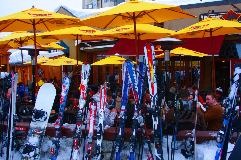 Longhorn Whistler Winter Patio via http://rtwgirl.com