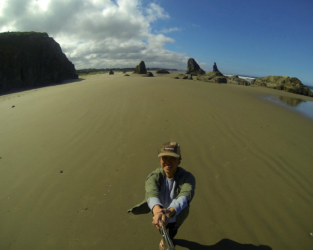 GoPro Selfie Bandon, Oregon