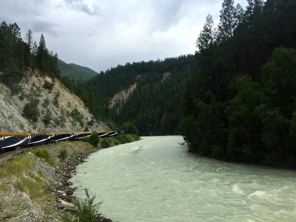 Kicking Horse River BC seen from the Rocky Mountaineer | www.rtwgirl.com