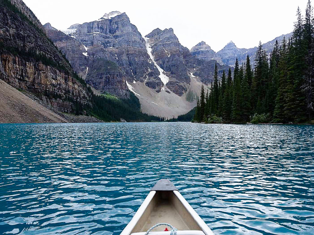 Moraine Lake - Banff, Alberta   www.rtwgirl.com