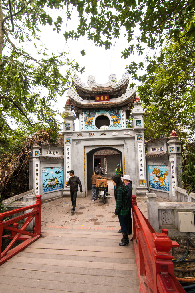 Ngoc Son Temple at Hoan Kiem Lake