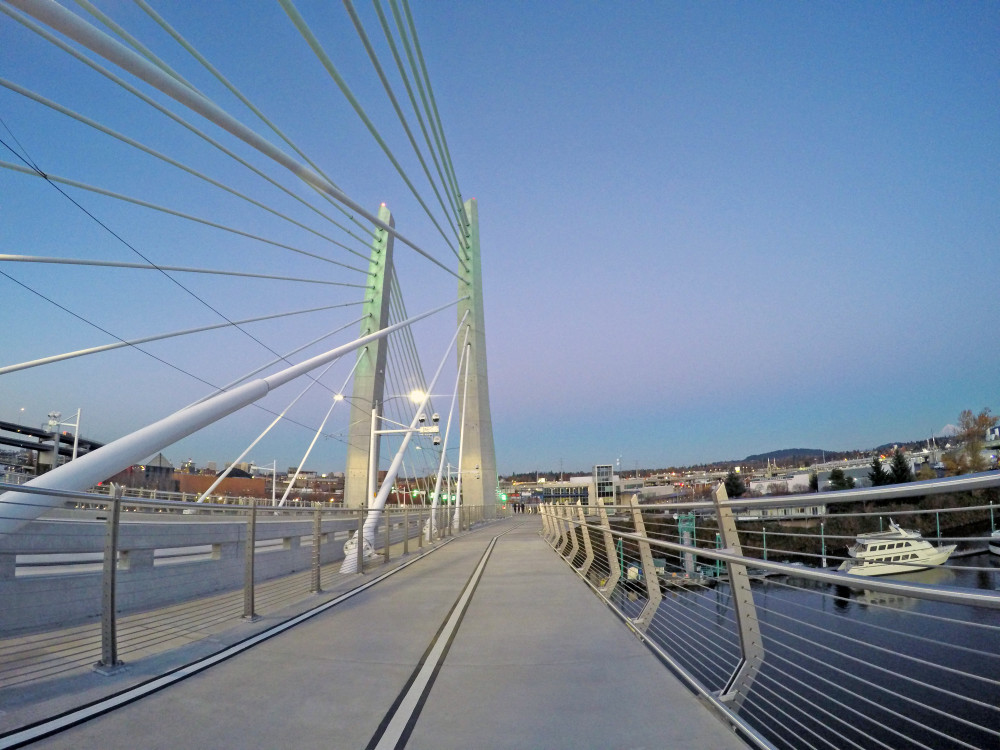 Tilikum Bridge Portland GoPro