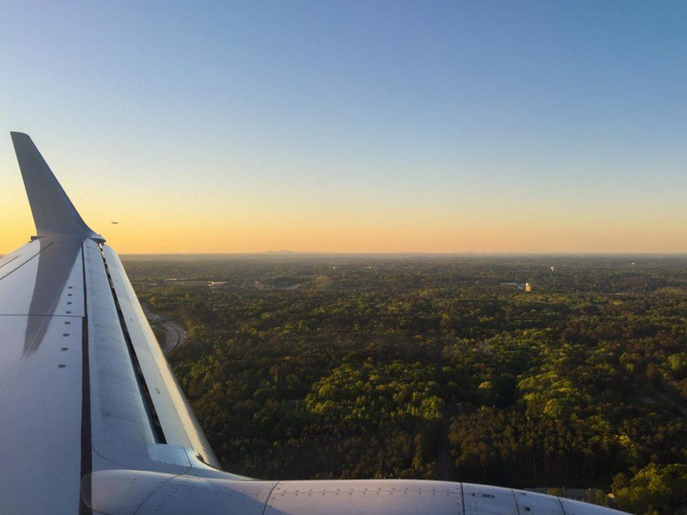 Flying into Atlanta | www.rtwgirl.com