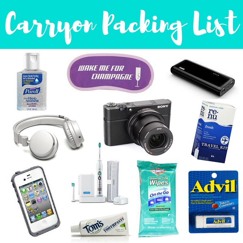 Carryon Packing List: What I Pack + A Free Printable!
