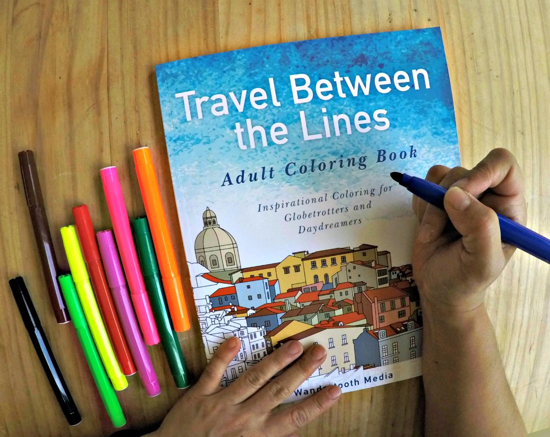 Travel Coloring Book: Travel Between The Lines + Giveaway!