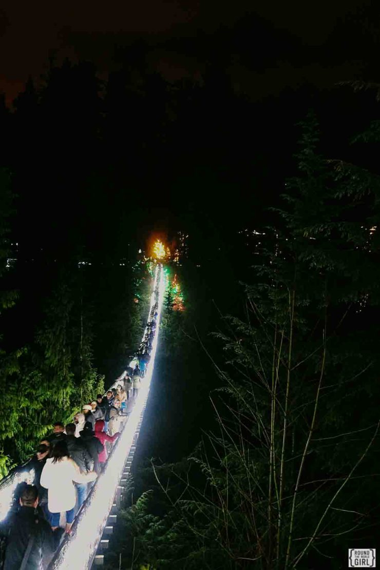 Canyon Lights At Capilano Suspension Bridge | www.rtwgirl.com