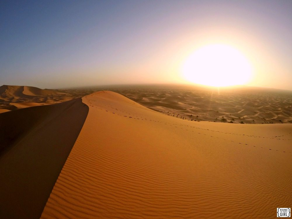 Erg Chebbi Sunrise Sahara Morocco | www.rtwgirl.com