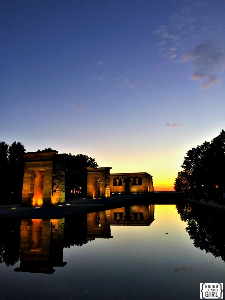 Templo de Debod Madrid | www.rtwgirl.com