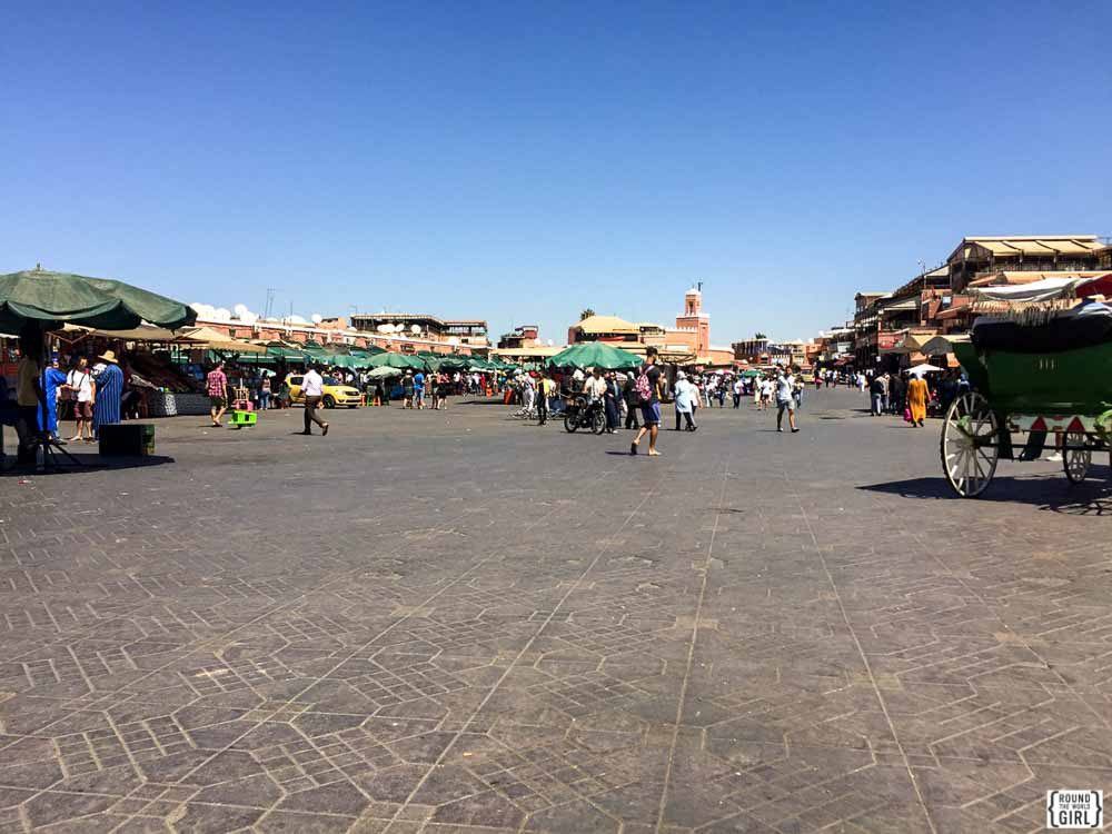 Daytime in Place Jemaa El Fna in Marrakech | www.rtwgirl.com