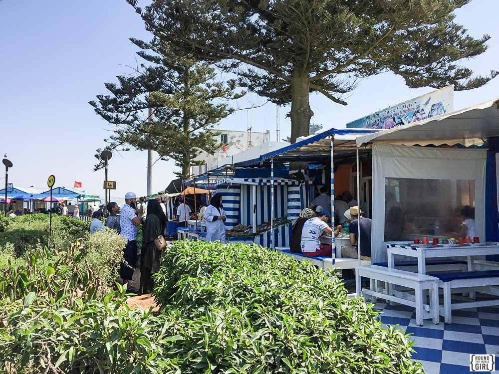 Essaouira port cafes | www.rtwgirl.com