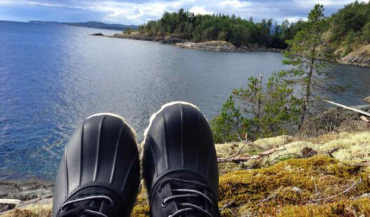 Jimmy Boots On The Sunshine Coast of Canada