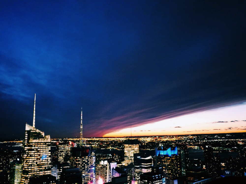 epic sunset from 30 Rock - New York Photos   www.rtwgirl.com