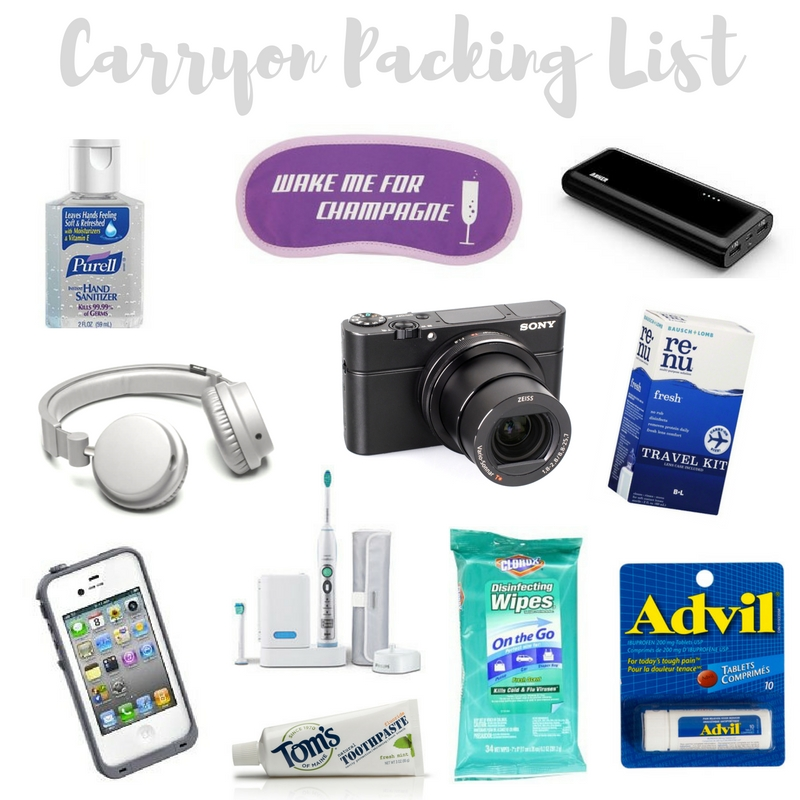 Carryon Packing List | www.rtwgirl.com